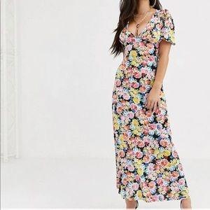 ASOS Petite Floral Maxi Dress 10